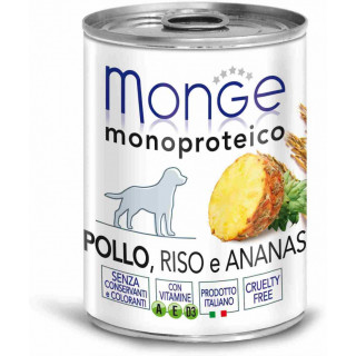 MONGE Dog Monoproteico Fruits консервы для собак паштет из курицы с рисом и ананасами