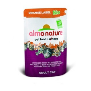 Almo Nature Orange label BIO Cat Beef&Chicken